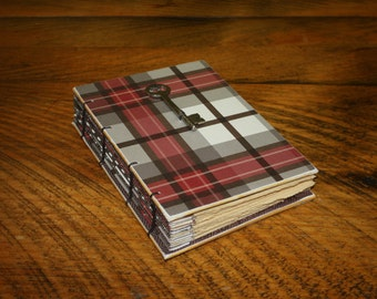 Fall Plaid Travel Journal, Vintage skeleton key, Harvest Writing Blank Notebook, Fall Guest Book, Writing Journal, Pregnancy Journal,