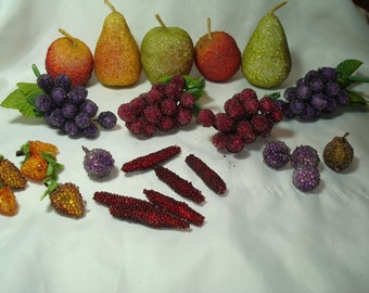 1994 Candied Artificial Fruit for Christmas Wreaths Decorations.