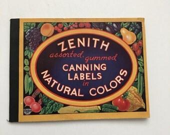 Vintage Canning Labels Colorful Fruits & Vegetables