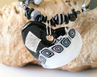 Fused Glass Statement Necklace