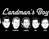 HEADS Line-up, Groomsmen custom caricature T-shirt gift