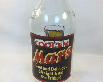 Vintage Retro Unigate Milk Bottle Advertising Mars Cool 'Em 1970s 1980s
