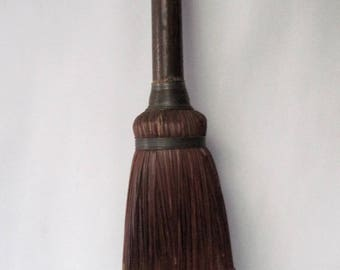 Vintage Fireplace Broom with wooden handle