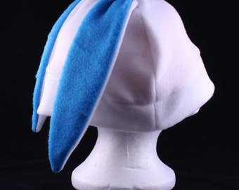 Custom white bunny rabbit hat short ears