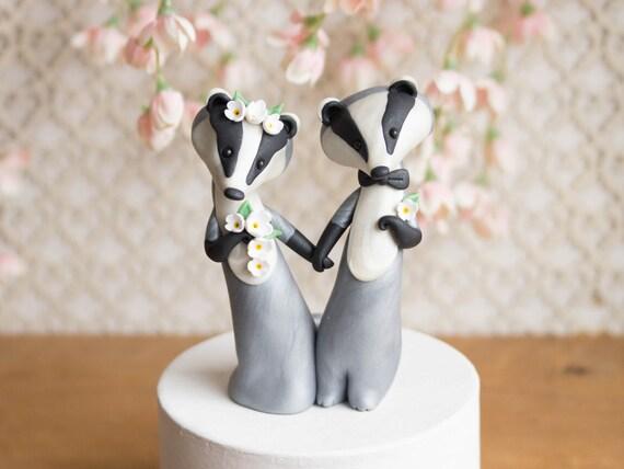 Eurasian Badger Wedding Cake Topper by Bonjour Poupette