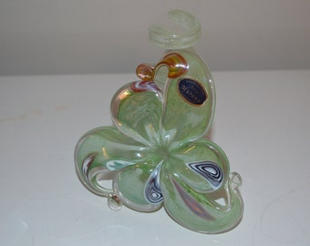 Arte Murano candle holder very beautiful art glass flower style vintage - lovely