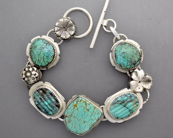 RESERVED.......don't buy ...Spiderweb Turquoise  Bracelet