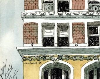 Financial District - San Francisco - Watercolor