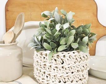 Rustic Bowl-Basket-Handmade
