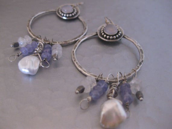 Blue Sky Hoop Earrings