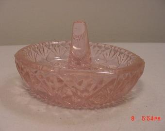 Vintage Fenton Pink Glass Ring Holder   17 - 277