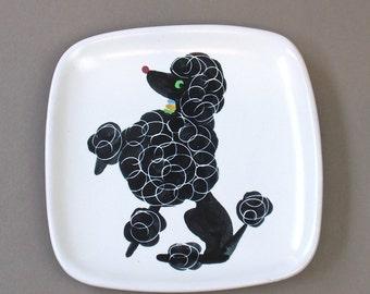 Vintage Glidden Black Poodle Luncheon Plate