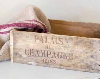 Vintage French Champagne Box from Reims, France