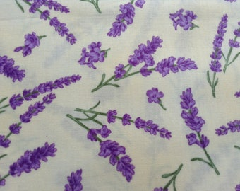Lavender Bliss 100% cotton Sewing Fabric by Andover Fabric, Home Decor, Quilting Fabric, By The HALF Yard, Lavender Pastel Yellow Background