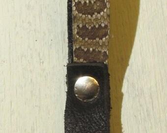 Prairie Rattlesnake Rattle Snake Key Fob