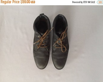 30% OFF WINTER SALE... forest green leather boots | lace up ankle boots | 8