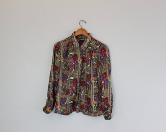 Vintage Womens Rose Blouse by Notations