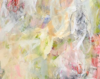 Colorful Abstract Expressionist Original Painting-  Desert Light  24 x 36