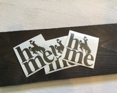 Home Decal - Wyoming Home - Wyoming Sticker - Bucking Horse Car Decal - Horse Bumper Sticker - Computer/Tablet Decal