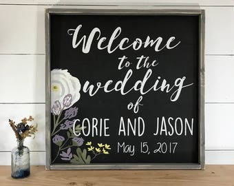 Welcome to our Wedding Sign - Welcome Wedding Sign - Wood Wedding Sign -  Rustic Wedding Welcome Sign - Welcome Sign - Wedding Signs