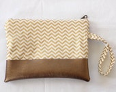 Small zipper pouch with strap
