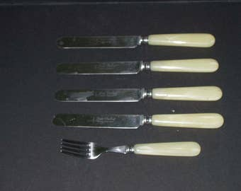 Jean Dubost France Table Knives One Fork Replacement Utensils Flatware Silverware Coutelier Professionnel sm
