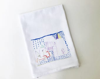 Personal Flour Sack Towel   Your Child's Artwork   Gifts under 15