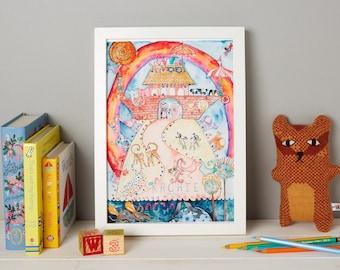 Personalised Noah's Arc Print