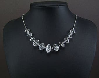 X-Lge. Genuine Herkimer Diamond Necklace - N878A
