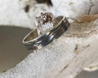 Thin Wire Sterling Silver Band