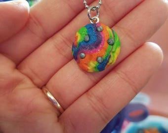 Unicorn Poop Cookie Necklace