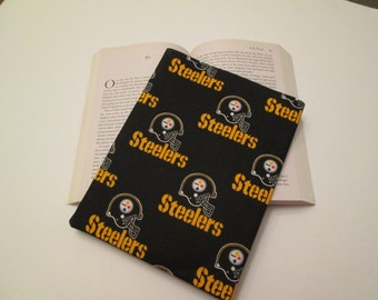 Pittsburgh Steelers paper back book cover, book sleeve, book cover, book protector
