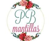 RESERVED FOR ROSA: Blue Mantilla in Honour of Saint Julia Salzano