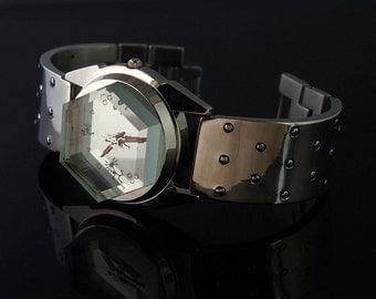 vintage unsex wrist watch Hi Tek London Alexander Cyber Goth style unusual gift for her