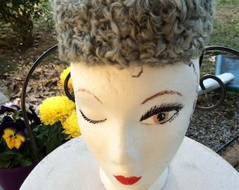 40's Tilt Hat Black Felt Tilt Hat with Persian Lamb Trim Starlet Style G. Fox & Co. Label Swing Era Old Hollywood Glam For Keeps Vintage