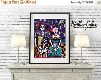 50% Off Today- Day of the Dead, Mexican Folk Art (HG373)