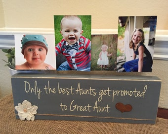 Great Aunt frame gift Personalized picture frame board aunt uncle gift from kids Christmas gift birthday for sister brother