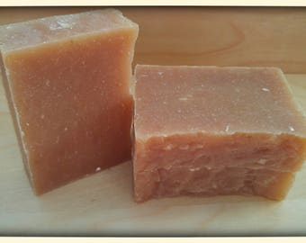 HONEY BEER SOAP - hot process soap - hand crafted - contains oatmeal- shea butter - All Natural