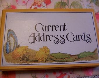 charming vintage current address cards