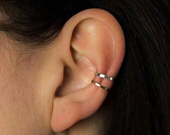 Skinny Hammered Ear Cuff - Ear Cuff - Rose Gold Ear Cuff - Silver Ear Cuff - Gold Ear Cuff