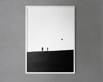 Minimalist Black and White Photography / Minimal Print / Monochrome Photo / Elegant Wall Decor/ Living Room Decor / Wall Art / Bedroom Decor