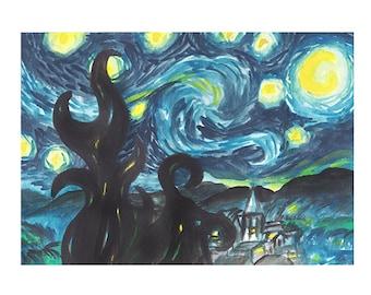 My Starry Night Study - ORIGINAL