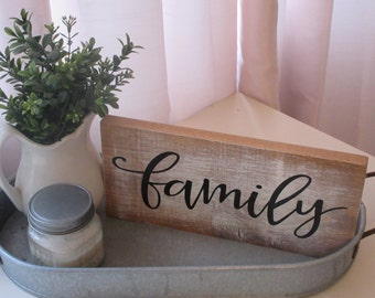Hand Painted Wood Sign Family