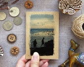 Small Notebook Blue Sunset 05. Gift For Nature Lover - Crossing Over, Thailand - Pocket Journal Booklet