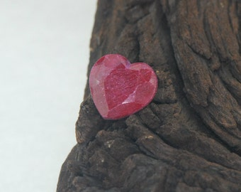 Ruby faceted heart cut natural gemstone 5.5 cts