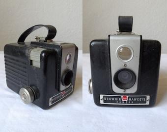 Rare Vintage 1949 Original 'Kodak Brownie Hawkeye' No Flash Camera 620 Film Antique Photography Decor