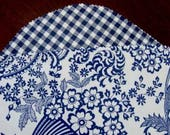 Reserved for Kimberly Chytraus -Delft Blue and White Oilcloth Placemats