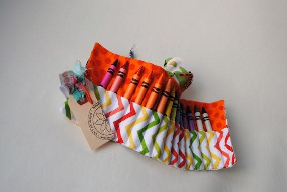 Construction Crayon Roll-Gift for Kids-Toddler Gift-Preschool Gift-Crayon Organizer-Travel Activity-Car Toy-Boy Gift-Children's Art Suppply