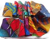 African Patchwork Neck Scarf, OOAK Bohemian neckwear,  Colorful Winter Wear, Barefoot Modiste Handmade, Boho Gypsy Clothing, Hippie Threads