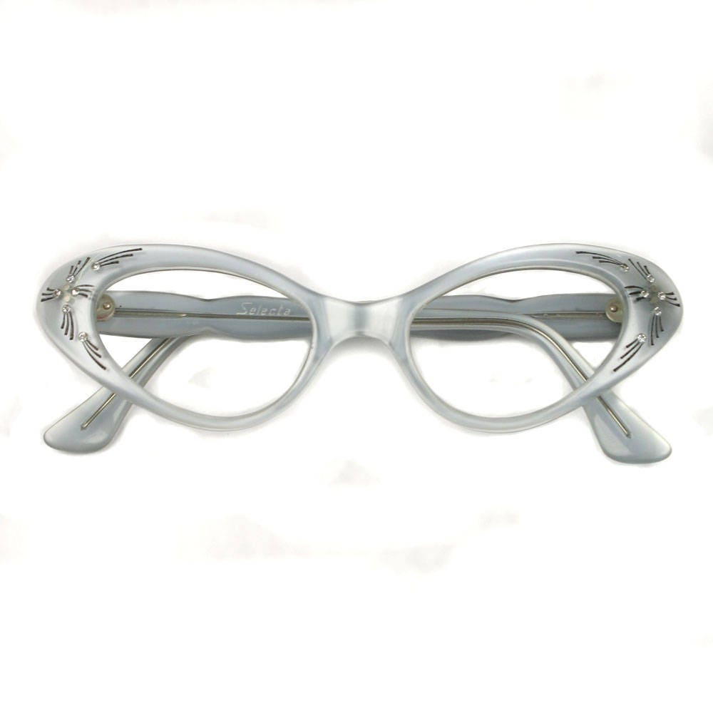 vintage mint green CATEYE frames ? 1950s french glasses with ...